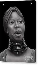 Nina Simone-revolution Acrylic Print by Reggie Duffie