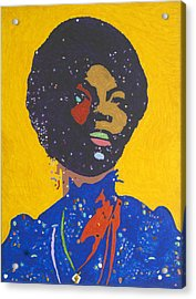 Nina Simone Acrylic Print by Stormm Bradshaw