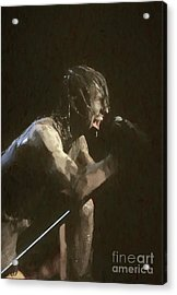 Nine Inch Nails Trent Reznor Painting Acrylic Print
