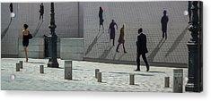Nine Pedestrians At Place Vendome Acrylic Print