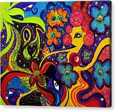Acrylic Print featuring the painting Joyful by Marina Petro