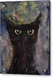 Ninja Cat Acrylic Print by Michael Creese