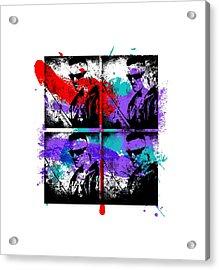 Ninja Graffiti Acrylic Print by Jera Sky