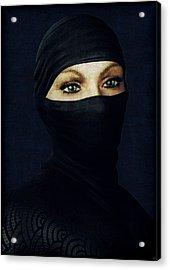 Ninja Portrait Acrylic Print