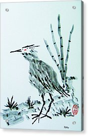 Acrylic Print featuring the painting Nippon No Ao Sagi by Roberto Prusso