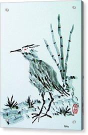 Nippon No Ao Sagi Acrylic Print by Roberto Prusso