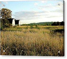 Nisqually Two Barns Acrylic Print