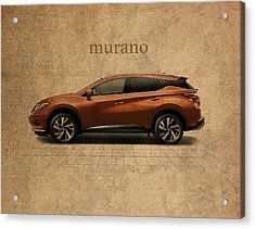 Nissan Murano Vintage Concept Art Acrylic Print by Design Turnpike