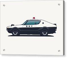 Nissan Skyline Gt-r C110 Japan Police Car Acrylic Print