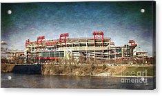 Nissan Stadium Acrylic Print by Tom Gari Gallery-Three-Photography