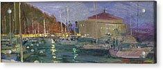 Nite Avalon Harbor - Catalina Island Acrylic Print