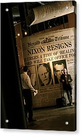 Acrylic Print featuring the photograph Nixon Resigns by Kate Purdy