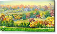 Acrylic Print featuring the painting Nixon's Beauty Of Autumn by Lee Nixon
