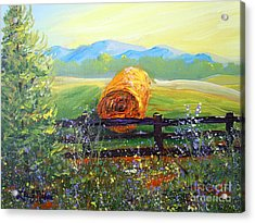 Acrylic Print featuring the painting Nixon's Farm View Of Paradise by Lee Nixon