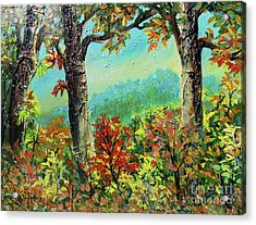 Acrylic Print featuring the painting Nixon's Glorious Colors Of Fall by Lee Nixon