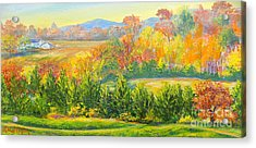 Acrylic Print featuring the painting Nixon's Glorious View Of Autumn by Lee Nixon