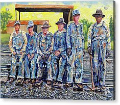Acrylic Print featuring the painting Nixon's Keepers Of The Railroad by Lee Nixon