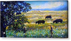 Acrylic Print featuring the painting Nixon's Three Plus One Out To Pasture by Lee Nixon