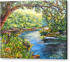 Acrylic Print featuring the painting Nixon's View Of The Rapidan by Lee Nixon