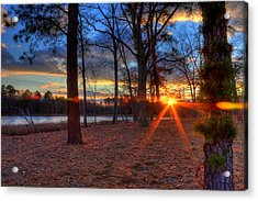 Sunset In New Jersey Acrylic Print