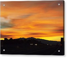 Nm Sunrise Acrylic Print by Adam Cornelison