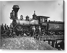 No. 120 Early Railroad Locomotive Acrylic Print by Daniel Hagerman