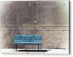 No Ball Playing - Bench Acrylic Print by Colleen Kammerer