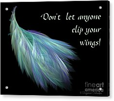 Wings Acrylic Print by Suzanne Schaefer