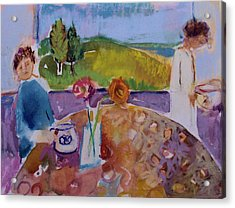 Acrylic Print featuring the painting No Conversation by Diane Ursin