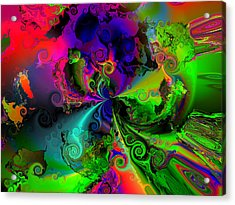 No Cooperation Acrylic Print by Claude McCoy