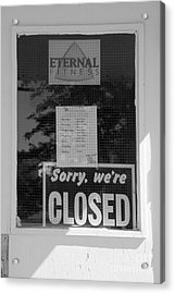 No Eternity Acrylic Print by Lionel F Stevenson