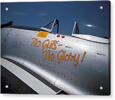 No Guts - No Glory P-47 Acrylic Print by Don Struke
