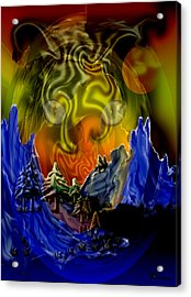 No Intrusions Acrylic Print by Andrea Lawrence