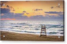 Acrylic Print featuring the photograph No Lifeguard On Duty. by Gary Gillette