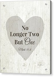 No Longer Two- Art By Linda Woods Acrylic Print by Linda Woods