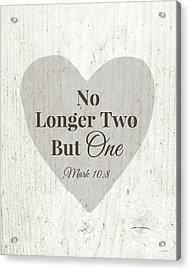 No Longer Two- Art By Linda Woods Acrylic Print