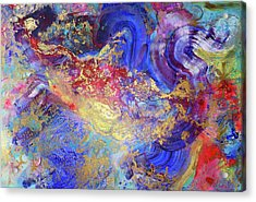 Acrylic Print featuring the painting No Mind by Eva Konya