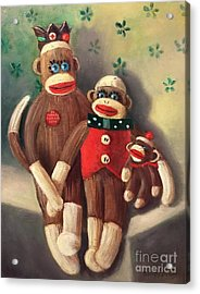 No Monkey Business Here 2 Acrylic Print by Randy Burns