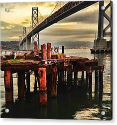 No Name Dock Acrylic Print by Steve Siri