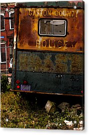 No Need For The Black Maria Acrylic Print by Jay Ressler