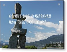 Acrylic Print featuring the mixed media No One But Ourselves by Wilko Van de Kamp