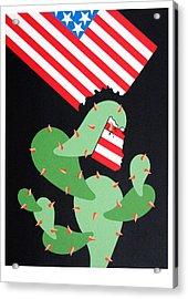 No Pasaran Acrylic Print by Julio Eloy Mesa