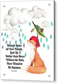 Acrylic Print featuring the digital art No Rain On My Parade by Colleen Taylor
