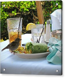 No Reservations Required Acrylic Print by Colleen Kammerer