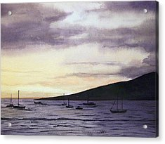 No Safer Harbor Lahaina Hawaii Acrylic Print