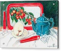 No Time For Tea Acrylic Print by Paula Farris-Reed
