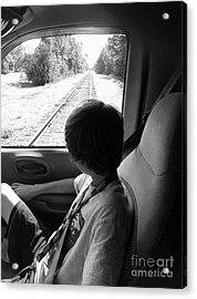 No Train Coming Acrylic Print by WaLdEmAr BoRrErO