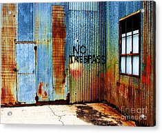 No Trespass Acrylic Print by Ronnie Glover