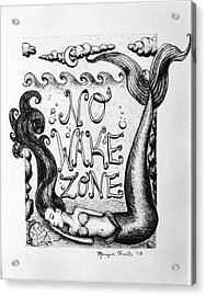No Wake Zone, Mermaid Acrylic Print