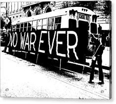 No War Ever Acrylic Print by Mark Stevenson